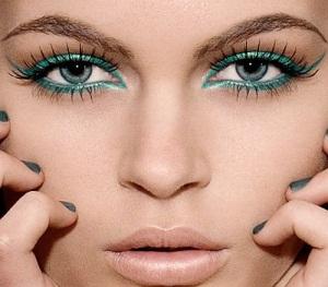 maquillage yeux bleu vert gris blonde