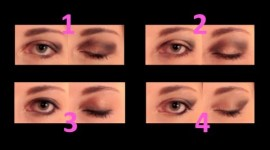 maquillage pour yeux en amande marron
