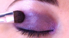 maquillage yeux violet