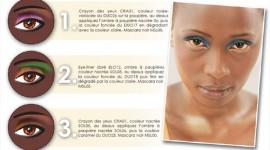 make up yeux peau noire