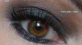maquillage pour yeux marron en amande
