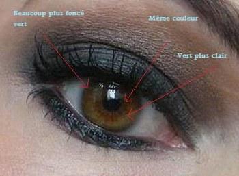 maquillage pour yeux marron en amande. Black Bedroom Furniture Sets. Home Design Ideas