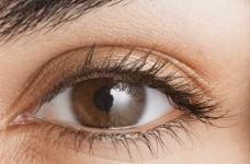 maquillage pour yeux marrons avec lunettes