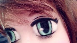 maquillage yeux de manga