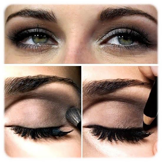 Célèbre maquillage yeux ombre noire EE25