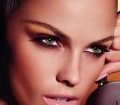 maquillage yeux verts soirée