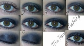 tuto make up yeux charbonneux