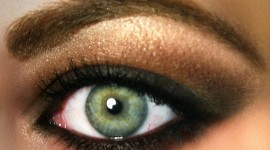 make up blonde yeux vert
