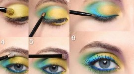maquillage pour yeux jaune vert