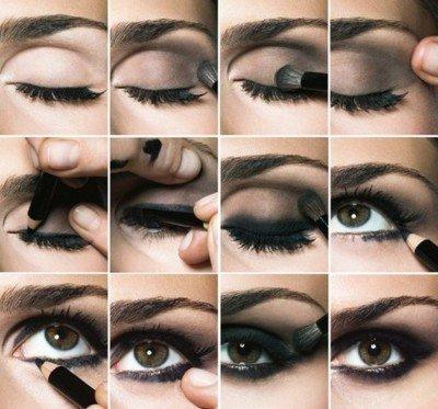 photo comment se maquiller oeil charbonneux