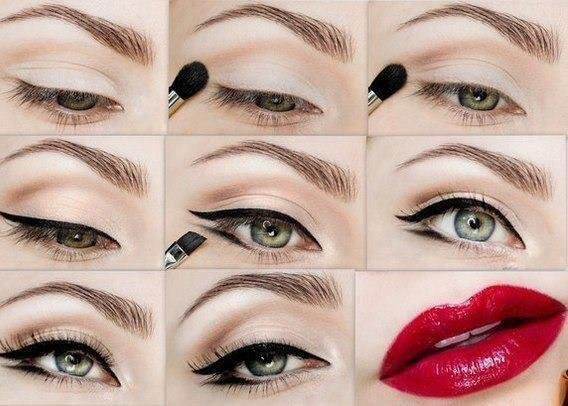 maquillage yeux pin up