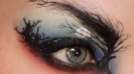 maquillage yeux pour halloween
