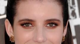 maquillage orange pour yeux vert