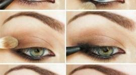 maquillage pour yeux vert bleu