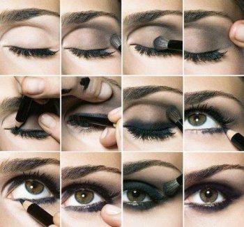 maquillage yeux amande marron