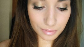 make up yeux kaki