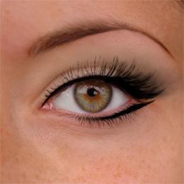 maquillage yeux verts amande