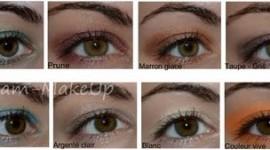 maquillage pour yeux vert marron
