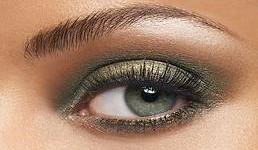 maquillage yeux en vert