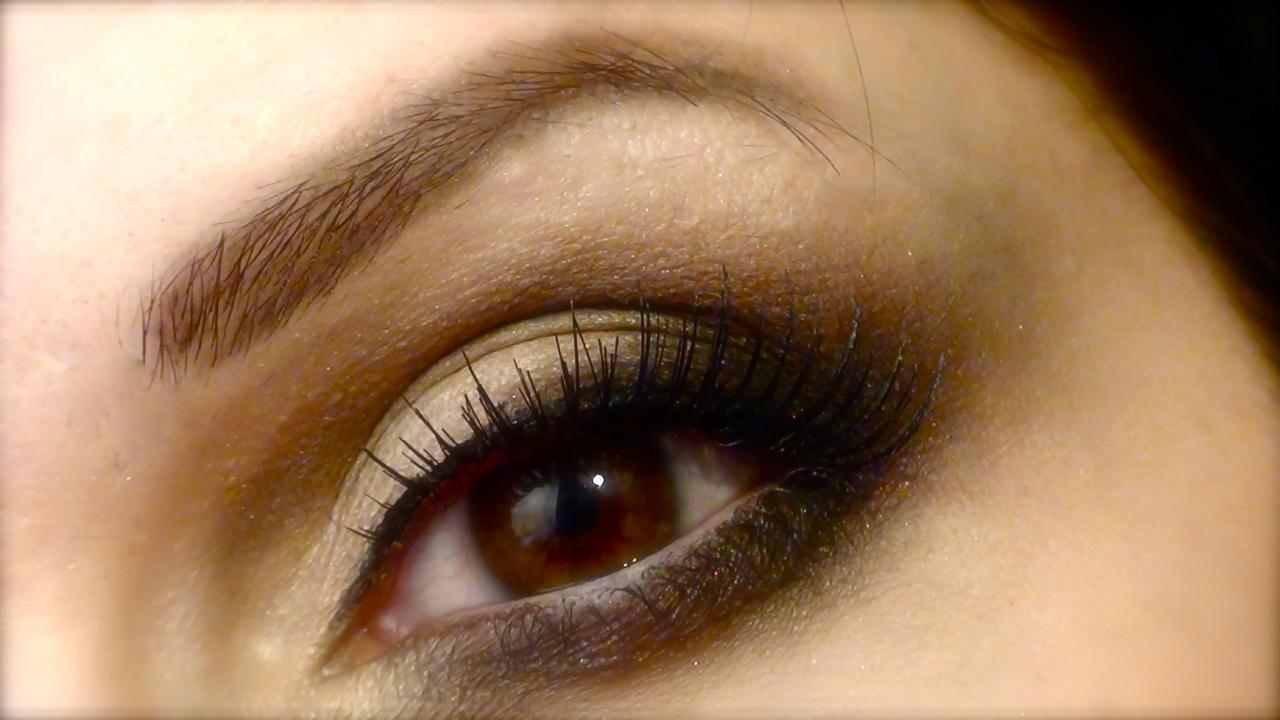 Connu comment se maquiller les yeux marrons en amande YO36