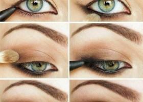 idée maquillage pour yeux bleu-vert
