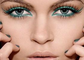 maquillage pour yeux gris bleu vert